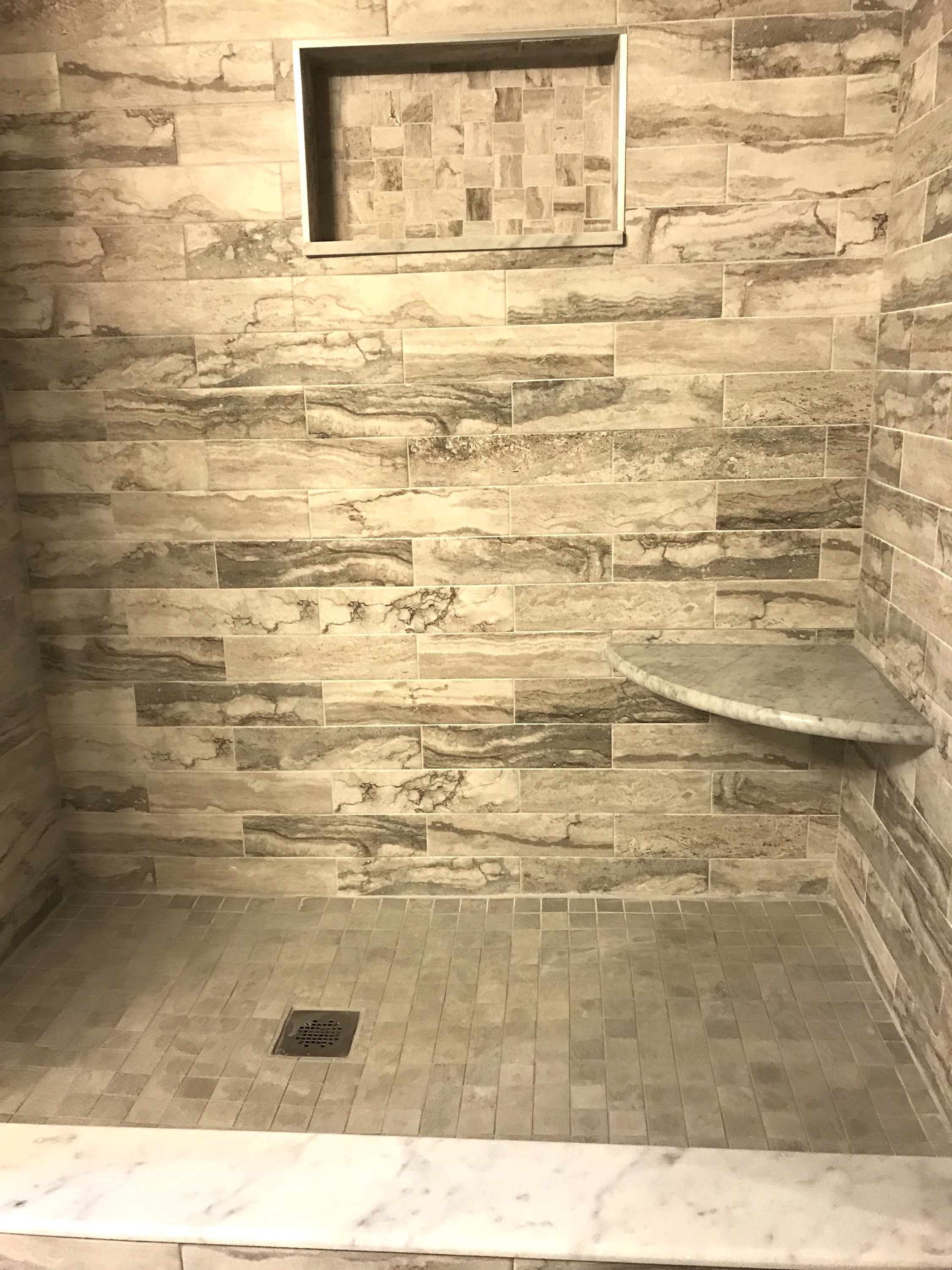 Elegant Design Of Stone Walk In Shower - Best Home Design Ideas and ...